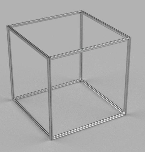 【FUSION360実践】アルミフレームを組み立てみた-アルミフレームの長さ設定と組合わせ