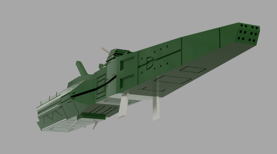 【Fusion練習】 某アニメの同盟軍 高速巡航艦○ダⅡの模写